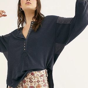 {Free People} New We The Free Back At It Henley